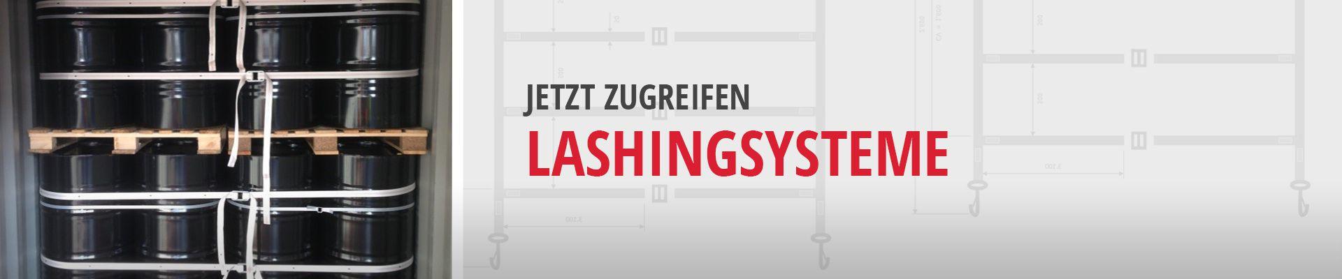 Lashing: Lashingsystem für eine professionelle Containersicherung