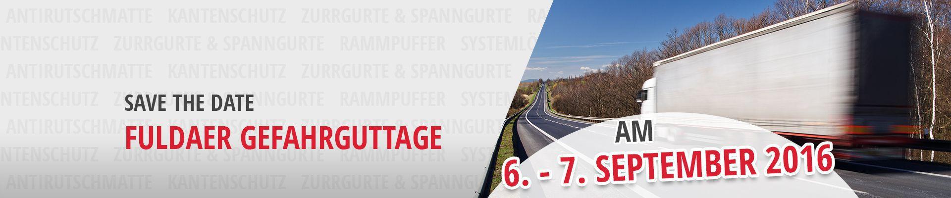 SAFE THE DATE: Fuldaer Gefahrguttage 6.-7. September 2016